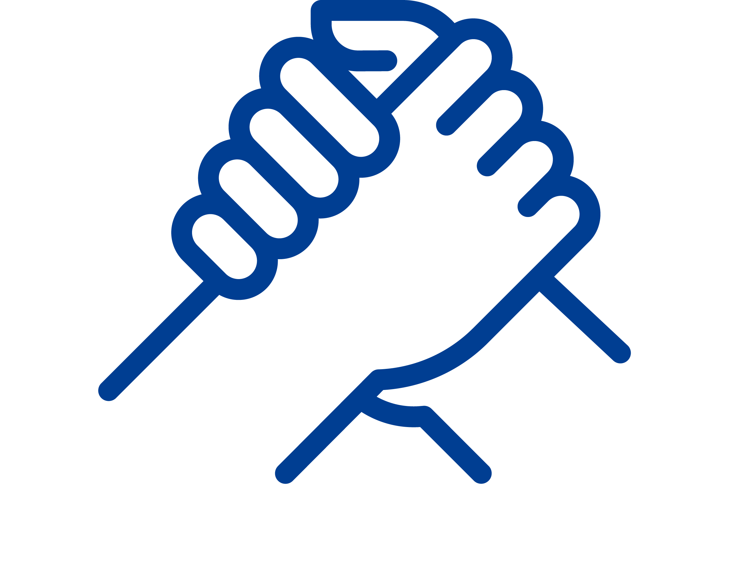 A blue icon of a van with a knife and fork drawn on it